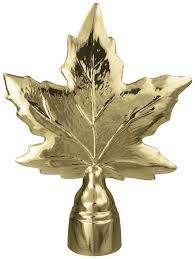 maple leaf metal gold 5 1 4 in high and 4 in wide w