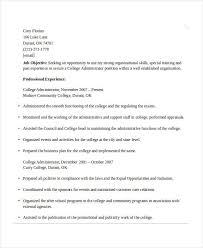 Resume The Work 26 Professional Administrative Resume Templates Free U0026 Premium