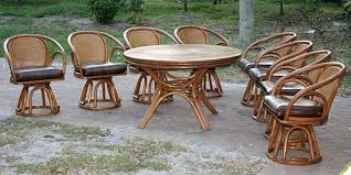 Dining Table With Rattan Chairs Vintage Brown Jordan Rattan Dining Set With 8 Chairs U0026 Table From