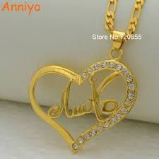 Gold Arabic Name Necklace Aliexpress Com Buy Anniyo Can Not Customize Arabic Name