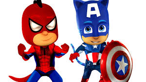 Halloween Masks Coloring Pages by Spider Man Pj Masks Captain America Coloring Pages For Kids Pj