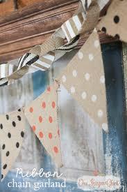 fall ribbon garland fall decor garlands and burlap