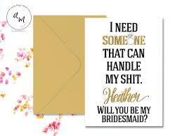 bridesmaids invite printable digital sign i need someone that can handle my
