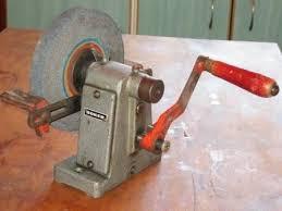 Sharpening Wheel For Bench Grinder Vintage Industrial Hand Crank Bench Grinder Knife Sharpener By