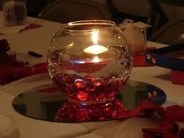 Cheap Easy Wedding Centerpieces by Centerpiece Idea Different Colored Flat Beads Bowl Floating