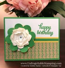 fabulous friday fabulous flower birthday card featuring cucumber