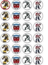 transformers cake toppers 24 x transformers rice paper birthday cake toppers ebay
