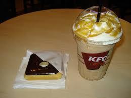 Coffee Kfc chocolate donut and blended caramel macchiato kfc s in flickr