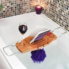 adjustable bathtub caddy bamboo bathtub caddy tray with adjustable holder bathroom spa