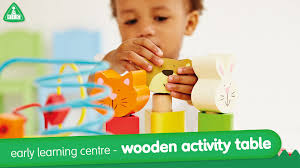 wooden activity table for early learning centre wooden activity table mothercare youtube