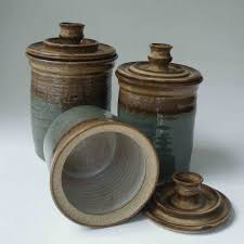 Design For Kitchen Canisters Ceramic Ideas Canister Set Handmade Pottery Canisters 0513001 Kitchen Stuff
