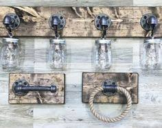 mason jar bathroom set light fixture and bathroom accessories
