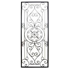 Faux Wrought Iron Wall Decor Decorations Wrought Iron Decorative Items Wrought Iron
