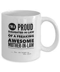 funny mug proud daughter in law funny awesome cute mug tea cup