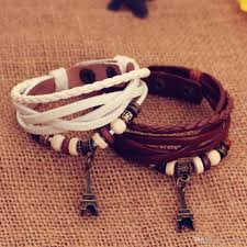 girls leather bracelet images The new handmade leather bracelet multi layer winding diy jpg