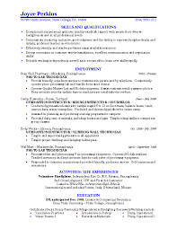 Examples Of Perfect Resumes by Example College Resume Berathen Com