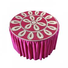 pink round table covers decornt shalin round table cover dark pink dk1133