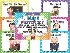 the daily five printables image gallery daily 5 cards
