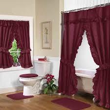 Bathroom Window Curtains Interesting Stylish Purple Bathroom Window Curtains Burgundy