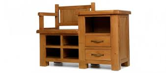 Shoe Storage With Seat Or Bench - bench oak shoe rack bench barham oak hall shoe storage bench