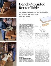 bench mounted router table plans u2022 woodarchivist