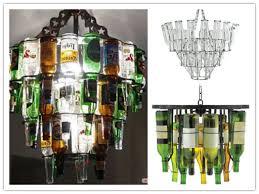Wine Bottle Chandeliers Bottle Chandelier Lighting Fixture How To