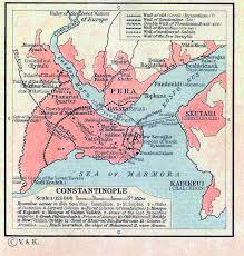 Constantinople Ottoman Empire Map Of Constantinople 1451 1481