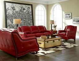 Manhattan Leather Chair Victoria 1635 Leather Sofa In Berry Red Sofas And Sectionals