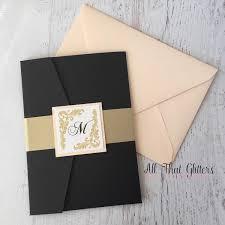 black wedding invitations camilla vintage wedding invitation suite all that glitters