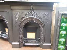 victorian arts u0026 crafts cast iron fireplace 185lc old fireplaces