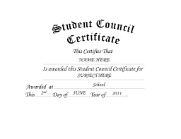 student council certificate free word templates u0026 clipart