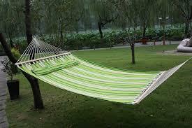 amazon com double cotton fabric hammock sleeping bed swing hang