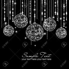 black and white christmas ornaments royalty free cliparts vectors