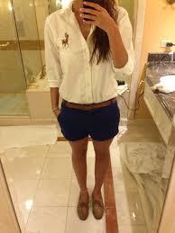 blusa blanca zara short azul muerdago conseguir polo ralph y