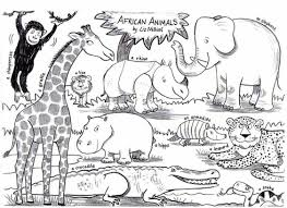 african animals coloring page coloring home