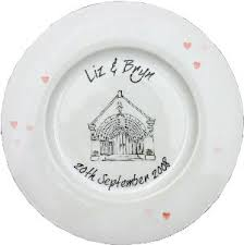 wedding signing plate wedding plates