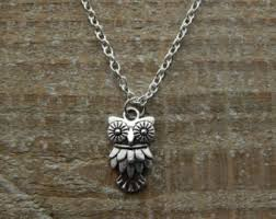 owl necklace silver images Owl necklace etsy jpg