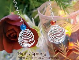 highly sprung diy wire ornaments dot