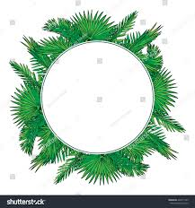 tropical thicket palm tree leaves summer stock vector 426011269