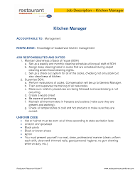 Kitchen Manager Resume Chipotle Kitchen Manager Job Description Room Design Ideas Top And