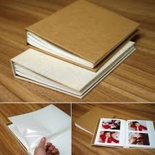 vertical photo album 22 5 17cm vertical linen craft cover plain 6 inch pp bag insert
