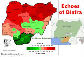Nigeria State Map by Echoes Of Biafra Geographical Patterns In Nigeria U0027s 2015 Election