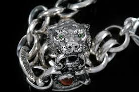 chain link bracelet silver images Tiger head sterling silver chain link bracelet br 012 jpg