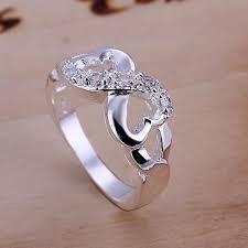 size 9 ring in uk stunning heart promise eternity wedding ring rhinestone us