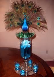 peacock centerpieces peacock center raji creations