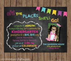 kindergarten graduation invitations dr seuss kindergarten graduation invitation preschool