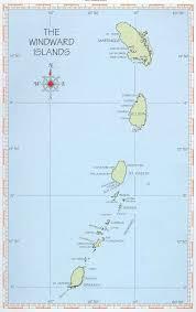 St Lucia Island Map Sailing 2004