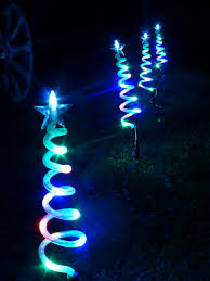 Christmas Outdoor Decorations Uk by Christmas Decorations Multi Coloured Christmas Trees Pathway