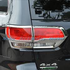 2016 jeep cherokee tail lights new chrome rear tail light cover trim for jeep grand cherokee 2014