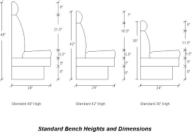 Bench Seat Height - awesome typical bench height 69 for home remodel ideas with